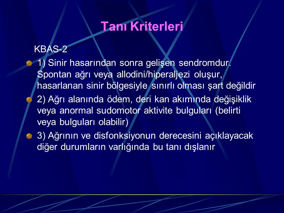 Tanı Kriterleri KBAS-2.