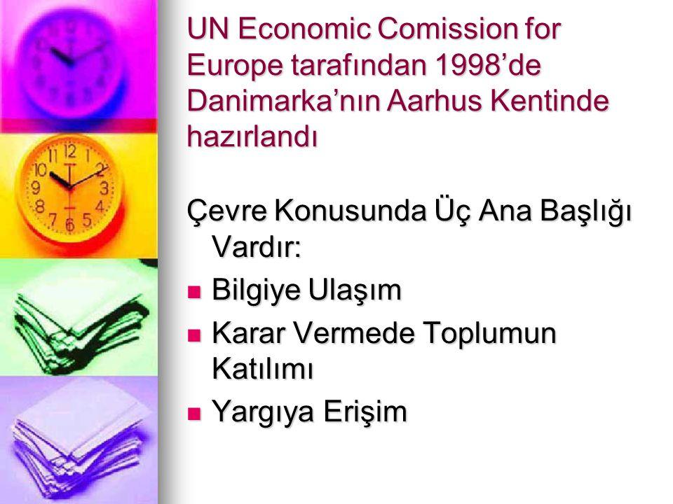 UN Economic Comission for Europe tarafından 1998'de Danimarka'nın Aarhus Kentinde hazırlandı