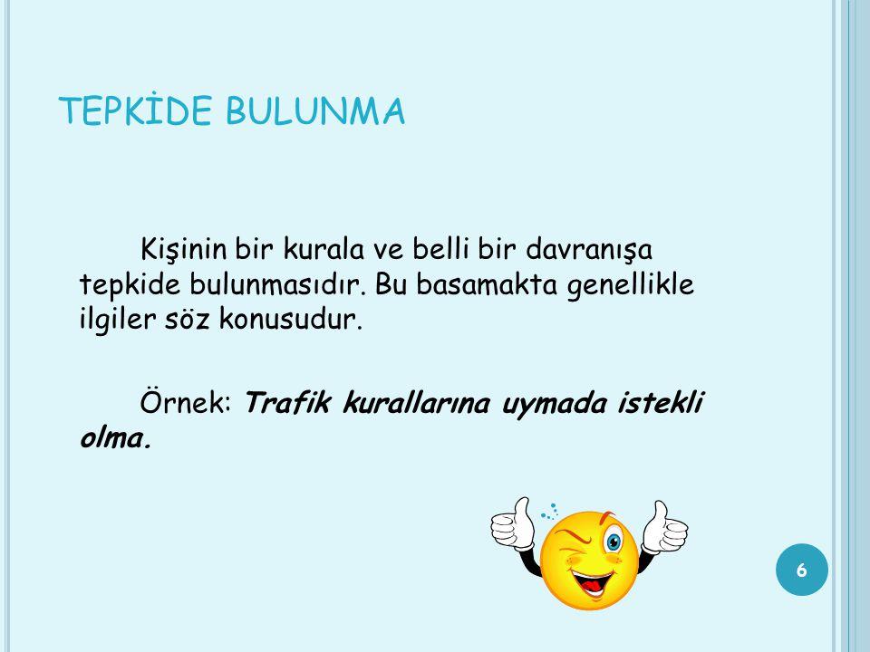 TEPKİDE BULUNMA