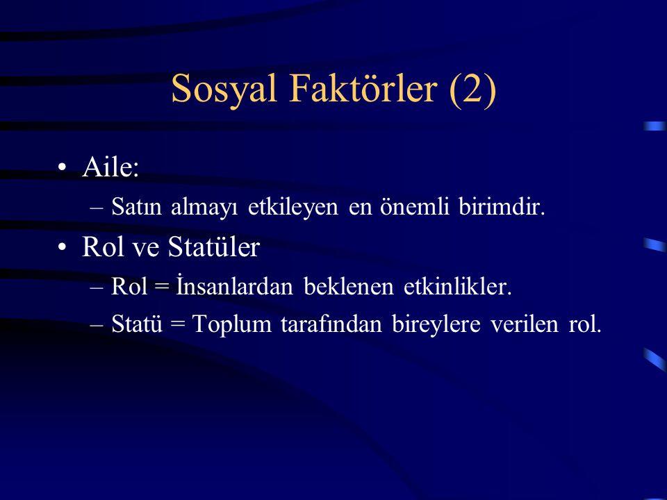 Sosyal Faktörler (2) Aile: Rol ve Statüler