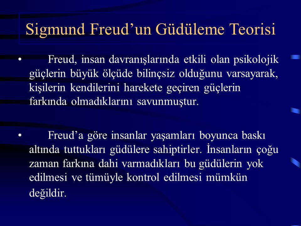 Sigmund Freud'un Güdüleme Teorisi