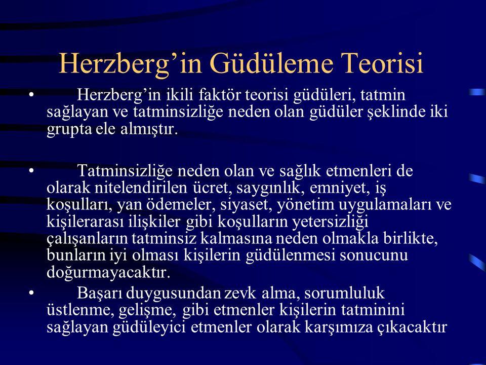 Herzberg'in Güdüleme Teorisi