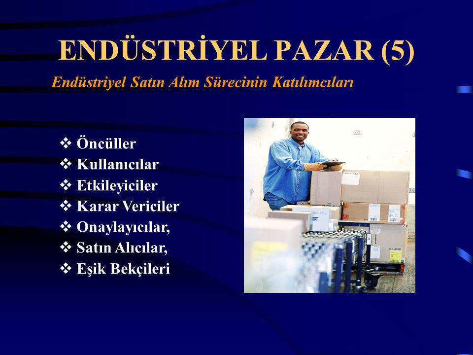 ENDÜSTRİYEL PAZAR (5) Endüstriyel Satın Alım Sürecinin Katılımcıları