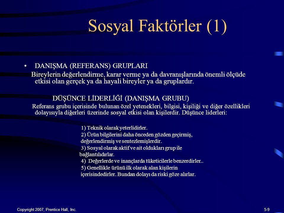 Sosyal Faktörler (1) DANIŞMA (REFERANS) GRUPLARI