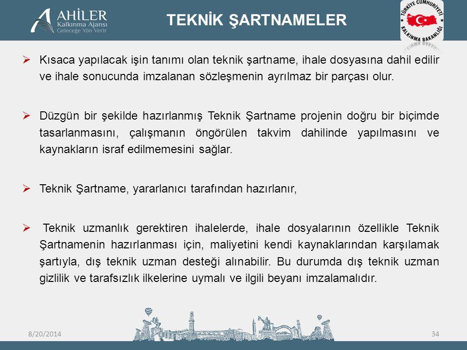 TEKNİK ŞARTNAMELER