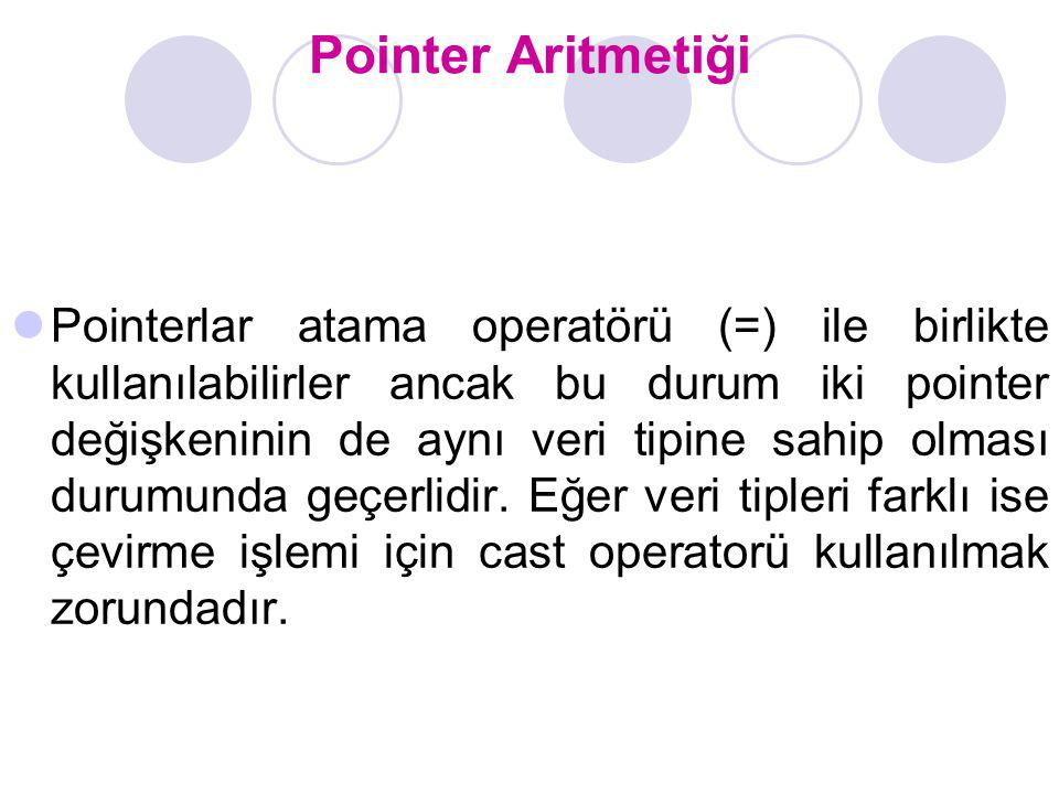 Pointer Aritmetiği