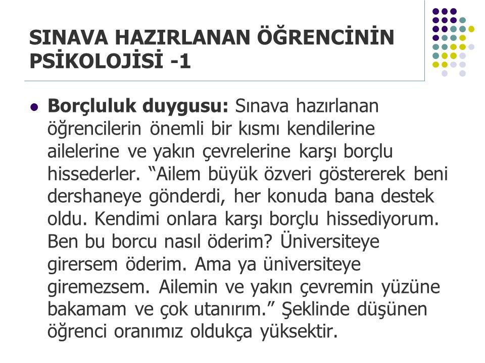SINAVA HAZIRLANAN ÖĞRENCİNİN PSİKOLOJİSİ -1
