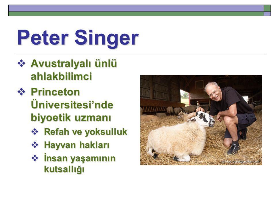 Peter Singer Avustralyalı ünlü ahlakbilimci