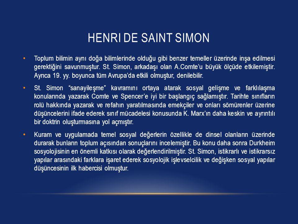 Henri de SaInt Simon