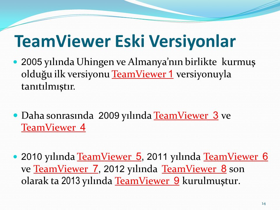 TeamViewer Eski Versiyonlar