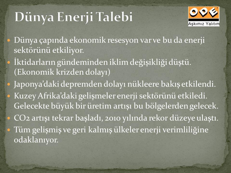 Dünya Enerji Talebi Dünya çapında ekonomik resesyon var ve bu da enerji sektörünü etkiliyor.