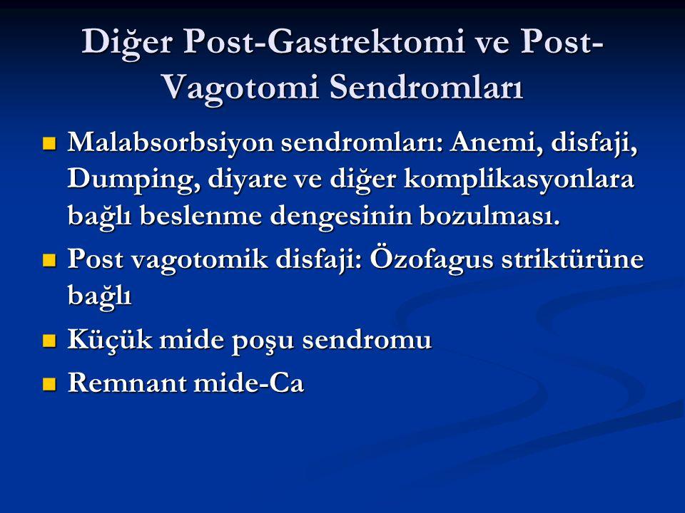 Diğer Post-Gastrektomi ve Post-Vagotomi Sendromları