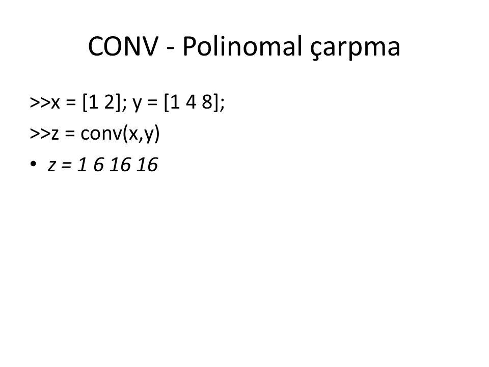 CONV - Polinomal çarpma
