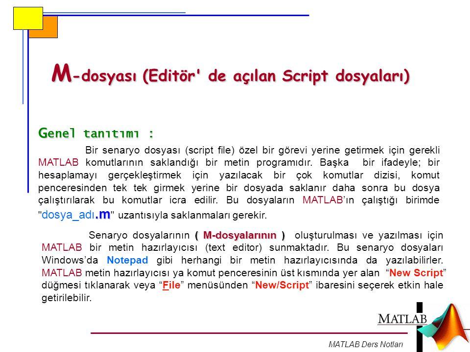 M-dosyası (Editör de açılan Script dosyaları)