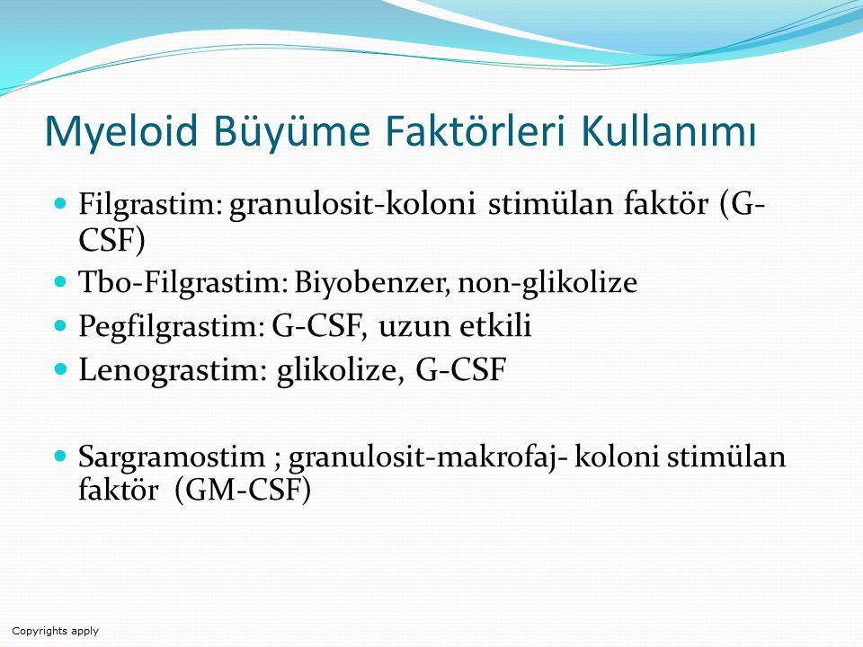 Myeloid Büyüme Faktörleri Kullanımı