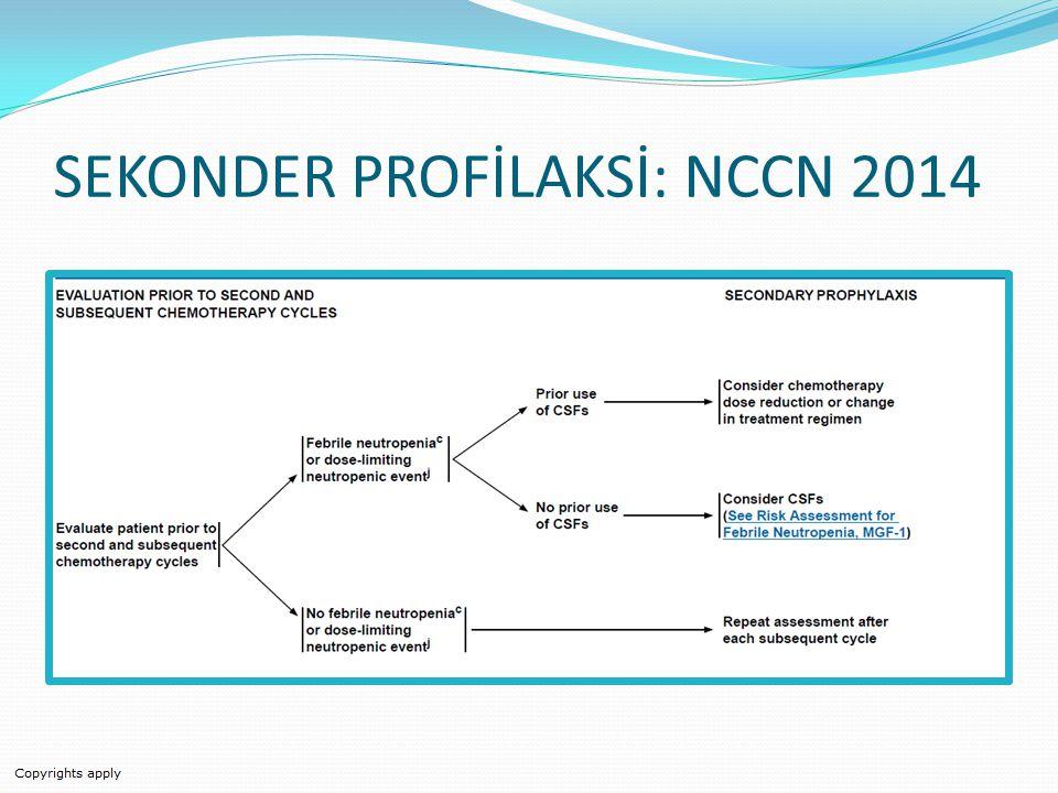 SEKONDER PROFİLAKSİ: NCCN 2014