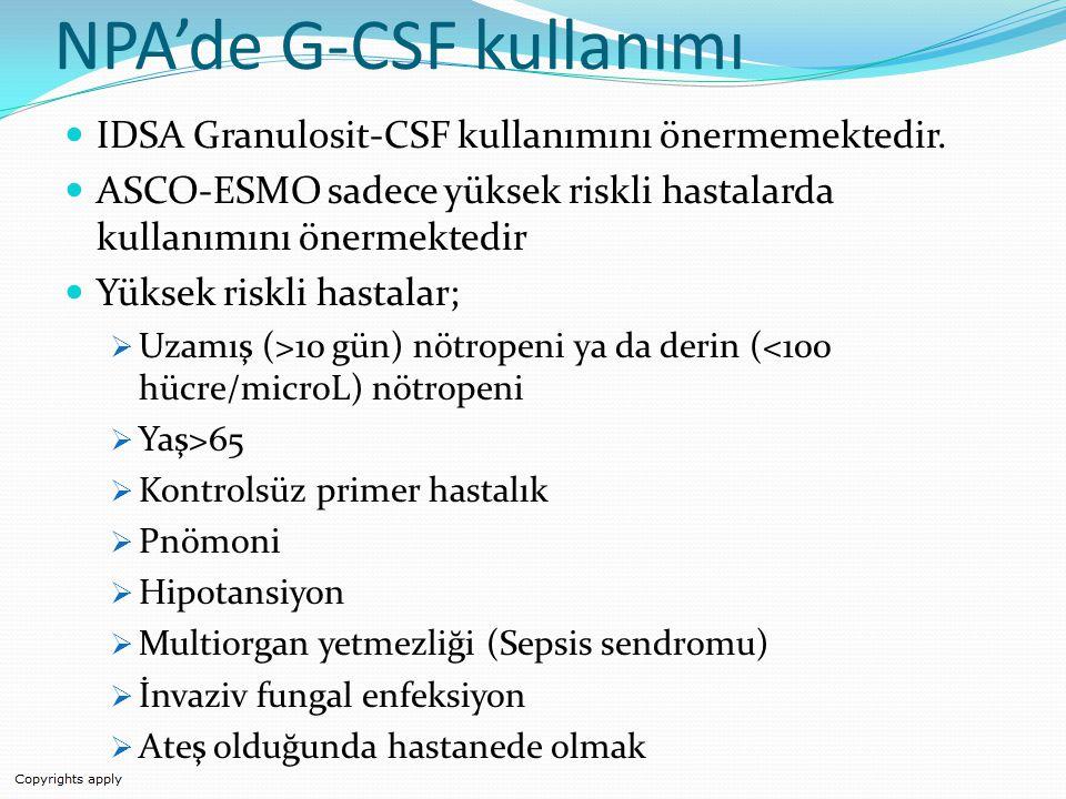 NPA'de G-CSF kullanımı