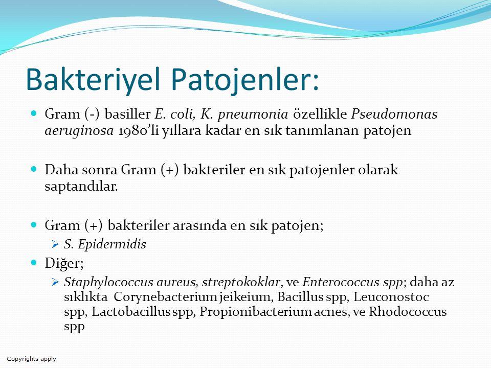 Bakteriyel Patojenler: