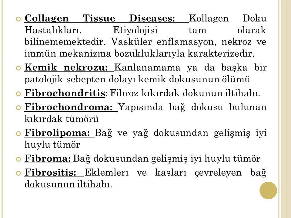 Collagen Tissue Diseases: Kollagen Doku Hastalıkları