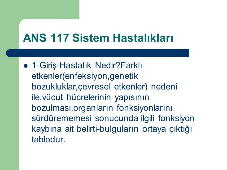 ANS 117 Sistem Hastalıkları