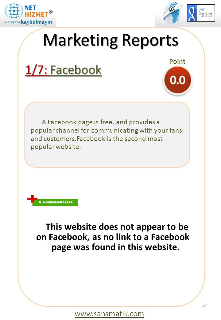 Marketing Reports 1/7: Facebook This website does not appear to be