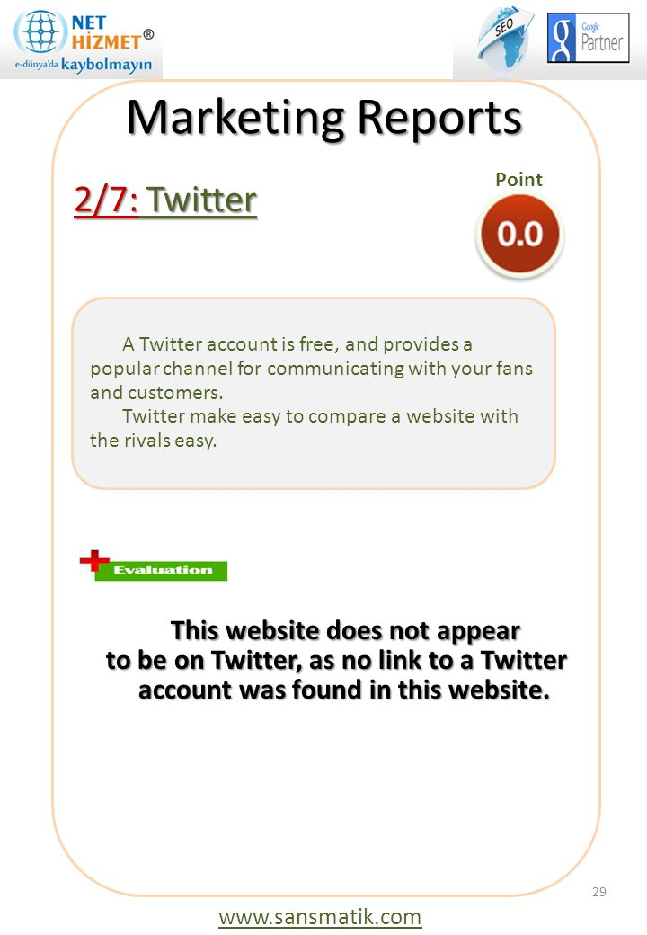 Marketing Reports 2/7: Twitter This website does not appear