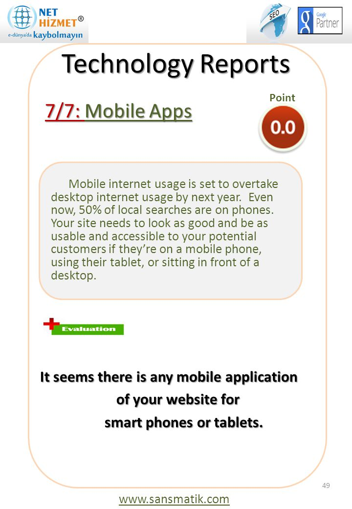 Technology Reports 7/7: Mobile Apps