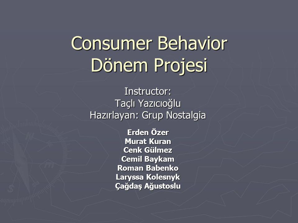 Consumer Behavior Dönem Projesi