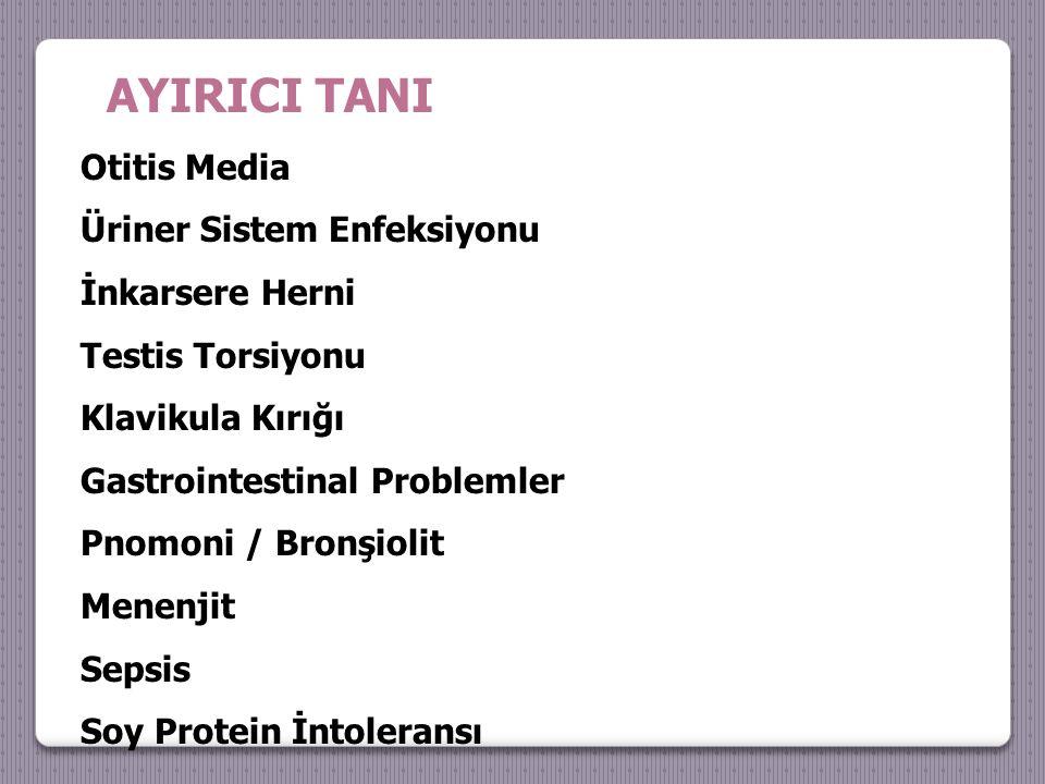 AYIRICI TANI Otitis Media Üriner Sistem Enfeksiyonu İnkarsere Herni