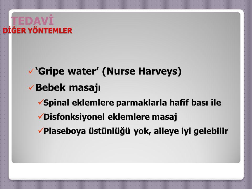 TEDAVİ 'Gripe water' (Nurse Harveys) Bebek masajı