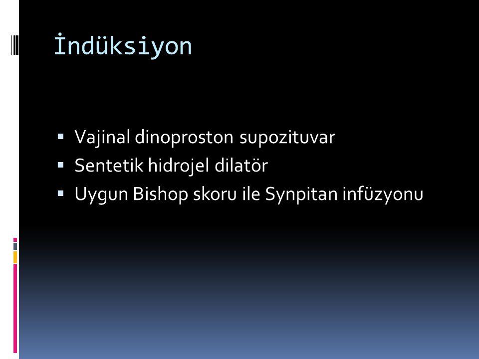 İndüksiyon Vajinal dinoproston supozituvar Sentetik hidrojel dilatör