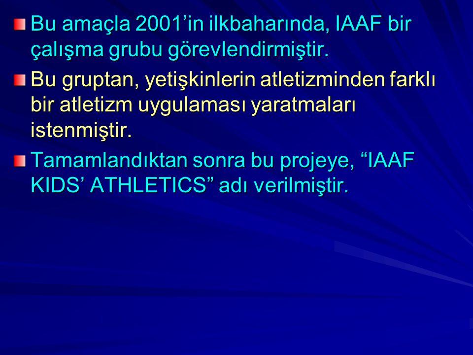 Bu amaçla 2001'in ilkbaharında, IAAF bir çalışma grubu görevlendirmiştir.
