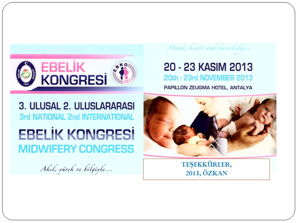 TEŞEKKÜRLER, 2013, ÖZKAN