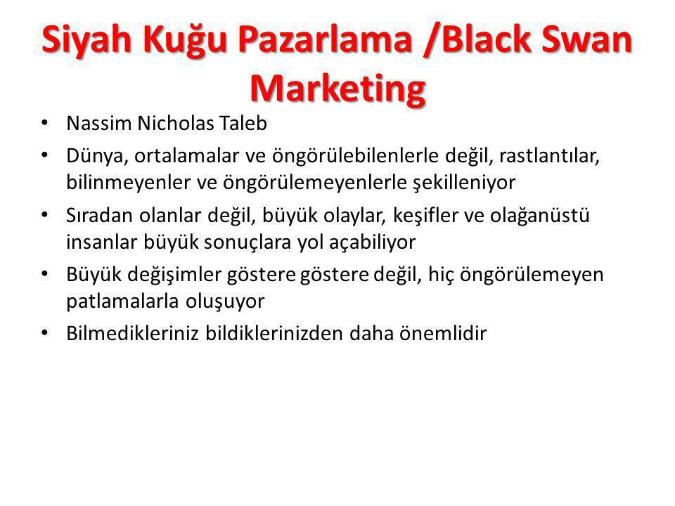 Siyah Kuğu Pazarlama /Black Swan Marketing