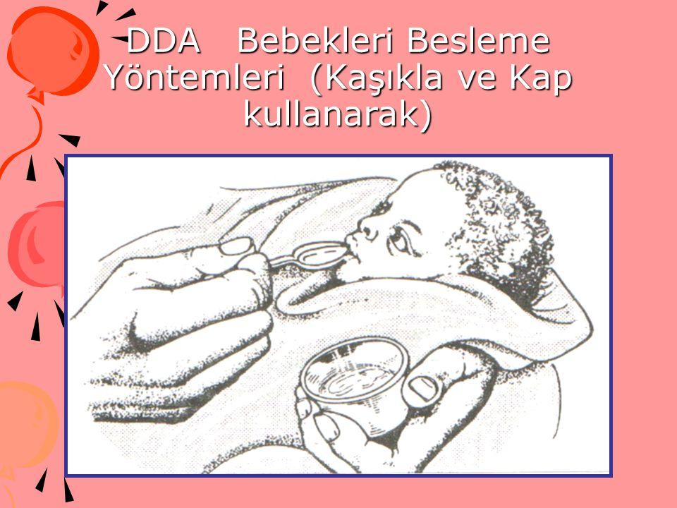 DDA Bebekleri Besleme Yöntemleri (Kaşıkla ve Kap kullanarak)