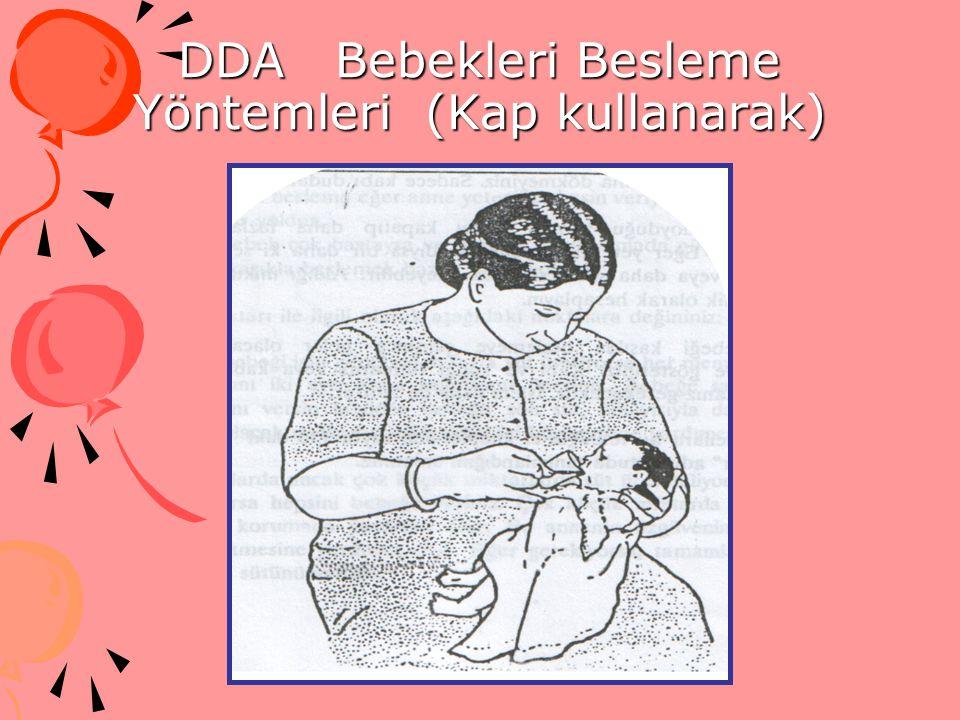 DDA Bebekleri Besleme Yöntemleri (Kap kullanarak)