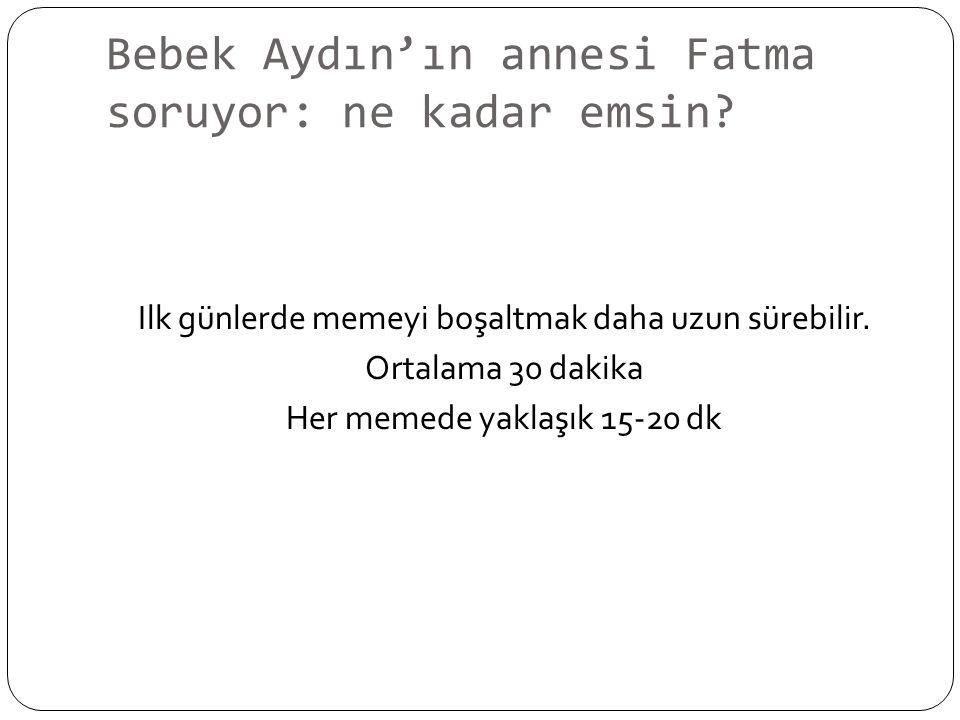 Bebek Aydın'ın annesi Fatma soruyor: ne kadar emsin