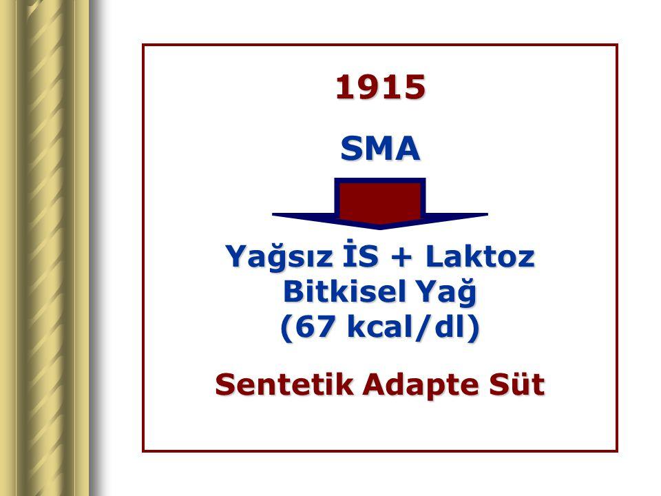 1915 SMA Yağsız İS + Laktoz Bitkisel Yağ (67 kcal/dl)