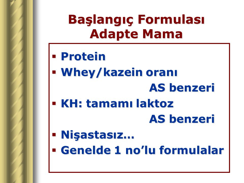 Başlangıç Formulası Adapte Mama