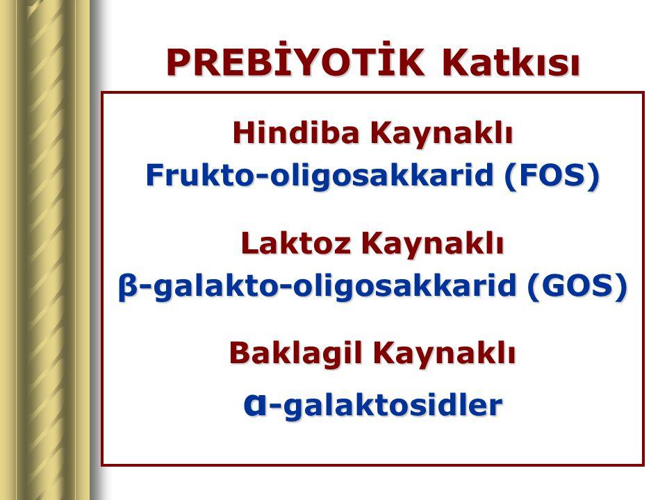 Frukto-oligosakkarid (FOS) β-galakto-oligosakkarid (GOS)
