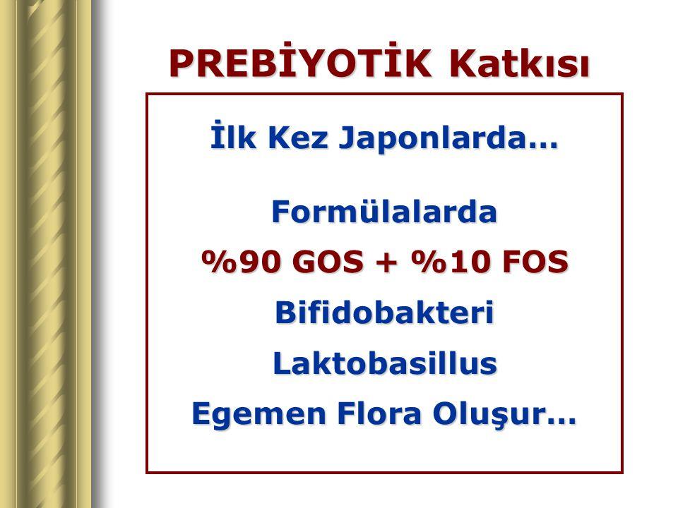 PREBİYOTİK Katkısı İlk Kez Japonlarda… Formülalarda %90 GOS + %10 FOS