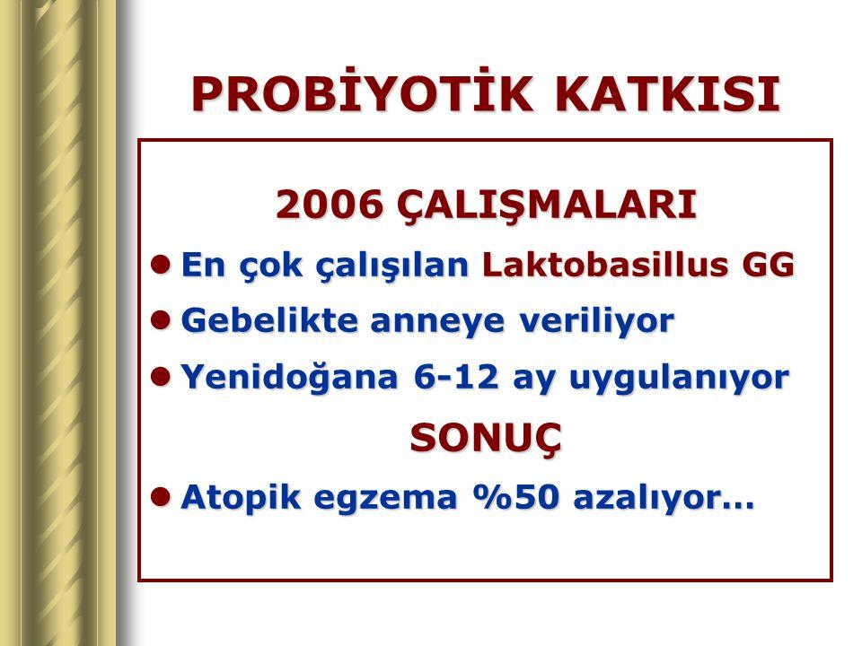 PROBİYOTİK KATKISI 2006 ÇALIŞMALARI SONUÇ