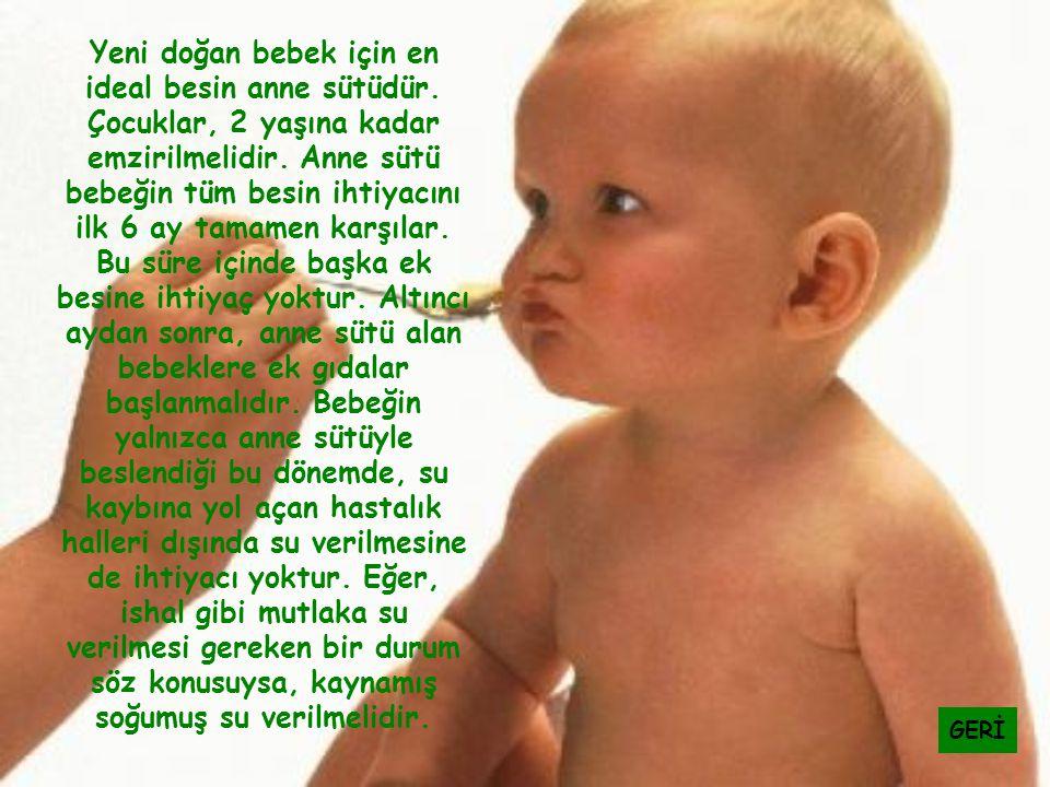 Yeni doğan bebek için en ideal besin anne sütüdür