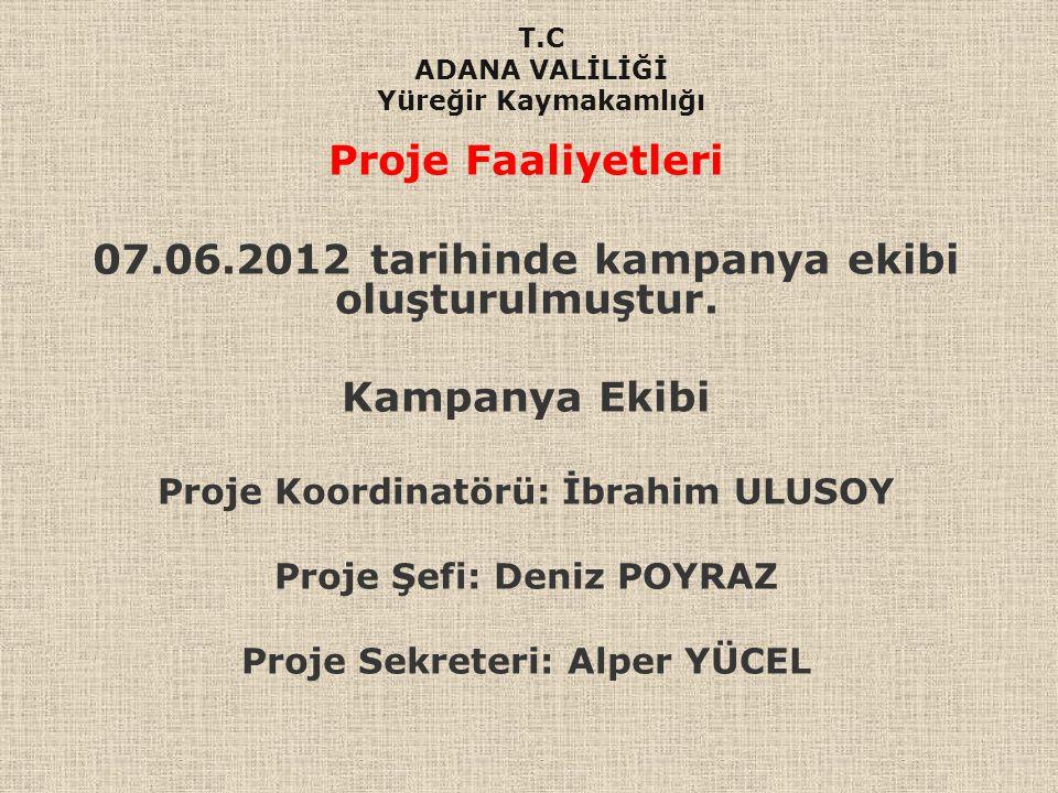 07.06.2012 tarihinde kampanya ekibi oluşturulmuştur.