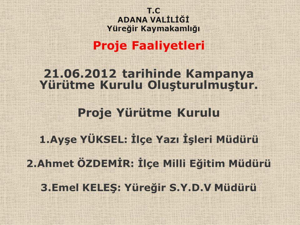 21.06.2012 tarihinde Kampanya Yürütme Kurulu Oluşturulmuştur.
