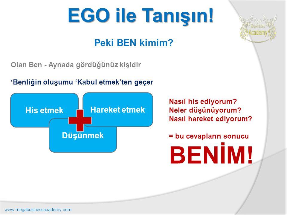 BENİM! EGO ile Tanışın! Peki BEN kimim His etmek Hareket etmek