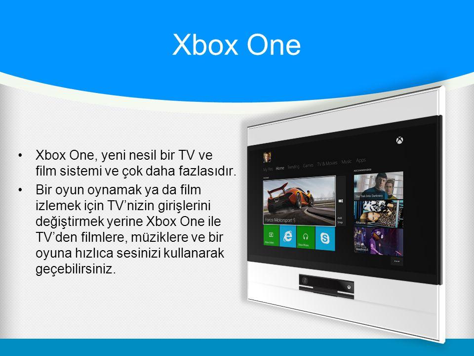 Xbox One Xbox One, yeni nesil bir TV ve film sistemi ve çok daha fazlasıdır.