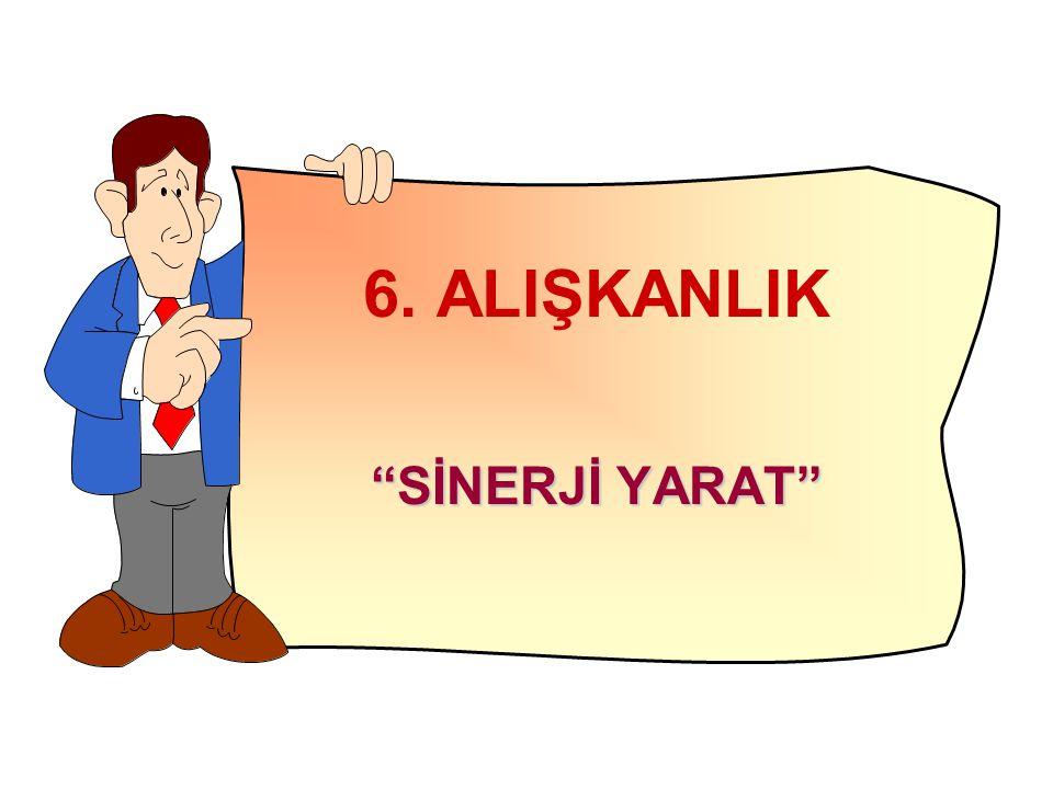 6. ALIŞKANLIK SİNERJİ YARAT