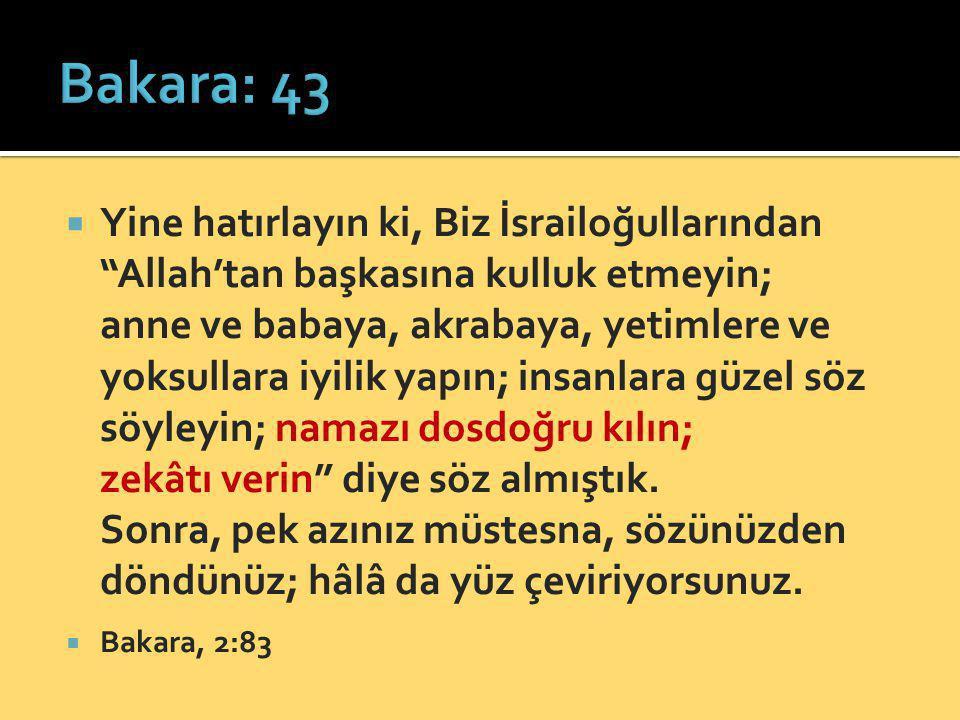 Bakara: 43
