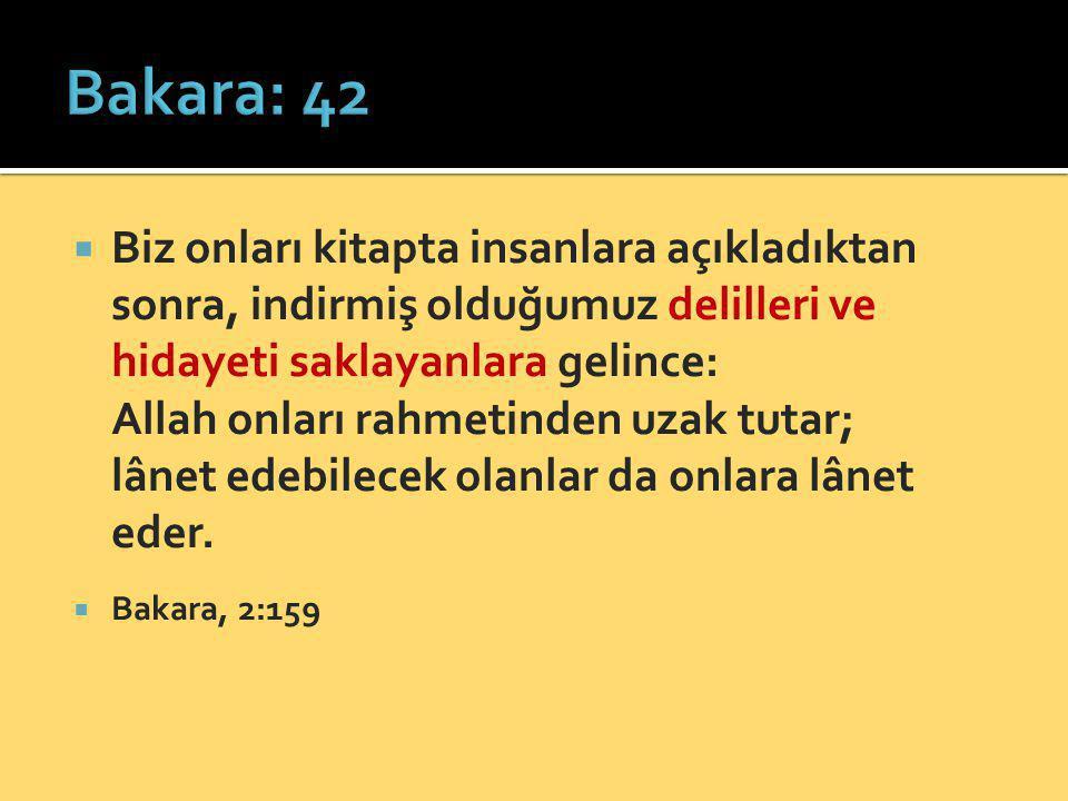 Bakara: 42